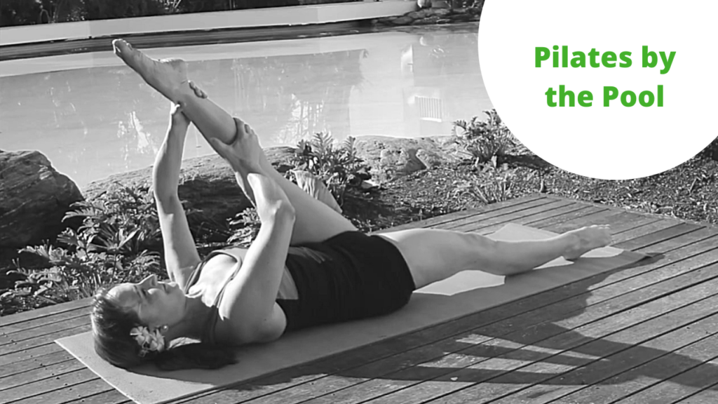 Pilates workout, spine articulation, mobility, stretching, abdominals thighs and Glutes