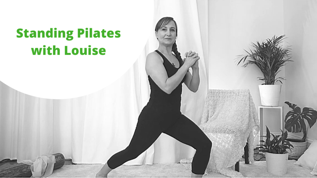 Standing Pilates with Louise No equipment needed. Improve your balance release your neck