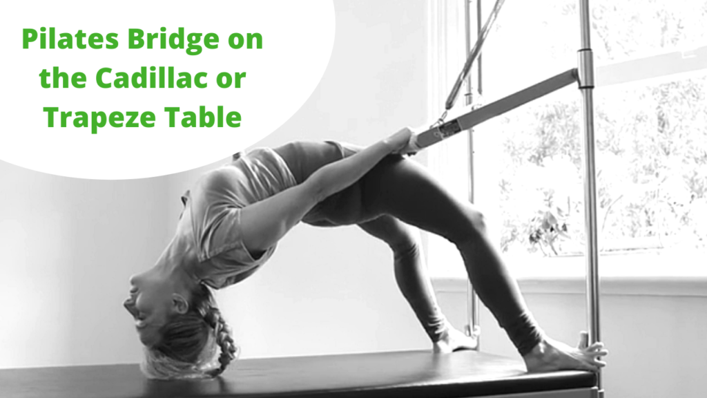 How to do the Pilates Bridge on the Cadillac or Pelvic Press on the Trapeze Table