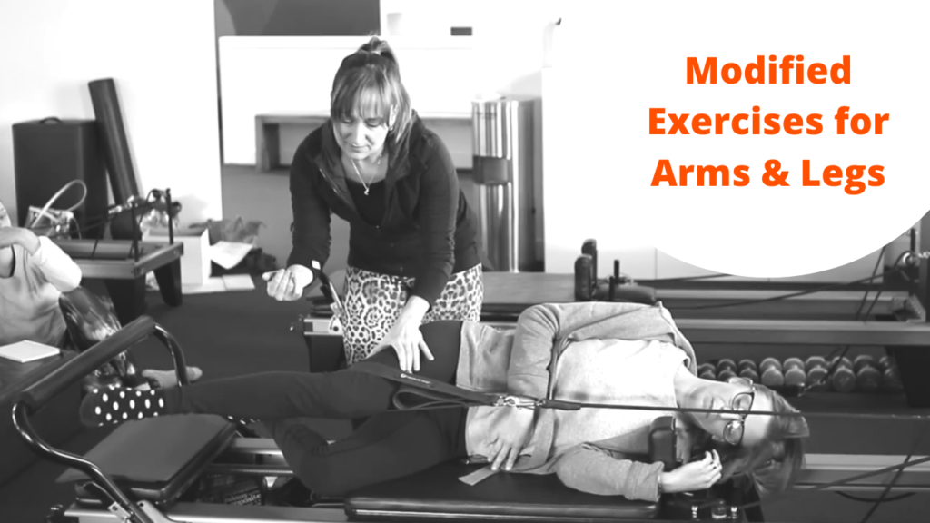 Modified exercises for arms and legs
