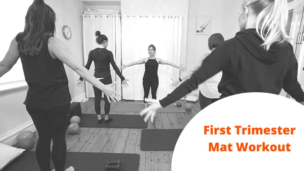 First trimester mat workout
