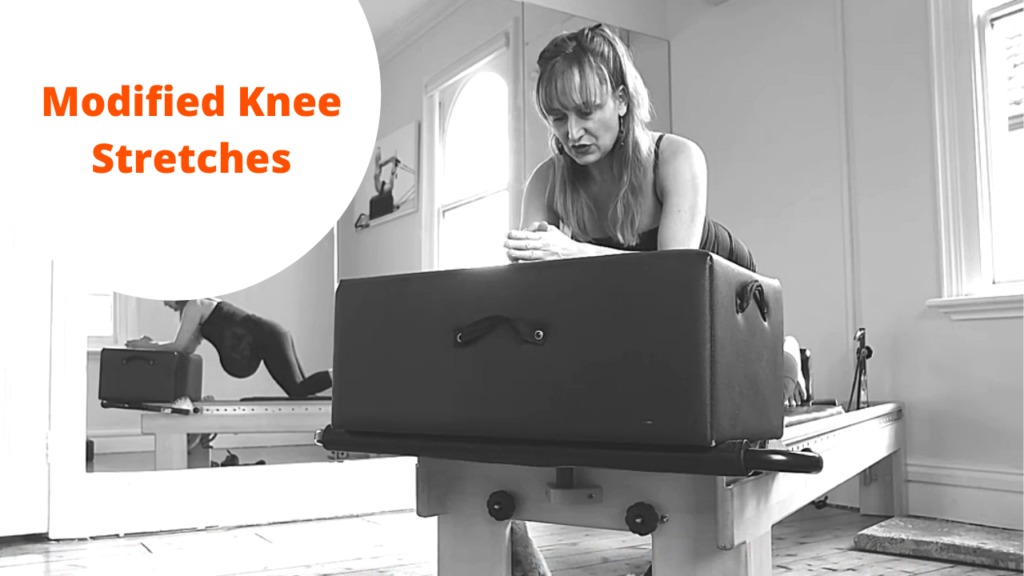 Modified knee stretches