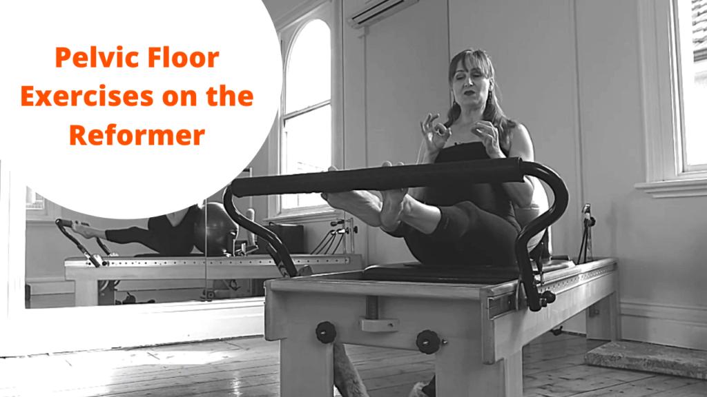 Pelvic Floor exercises on the Reformer
